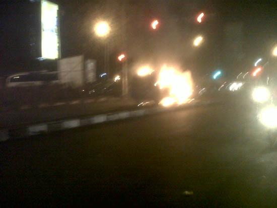 Foto Kebakaran Mobil Soekarno-Hatta Bandung 2