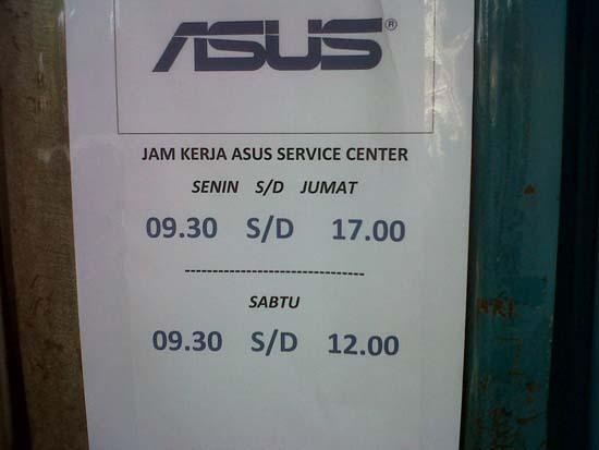 Jam Kerja Service Center Asus Bandung